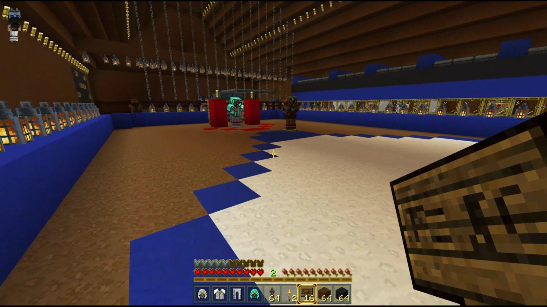 Minecraft verze Hattricku! Podívejte se, jakou halu nám postavil elév